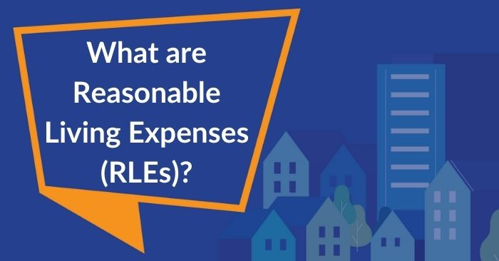 speech bubble asking what are reasonable living expenses?