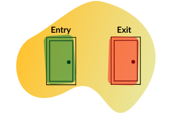 entry exit doors graphic
