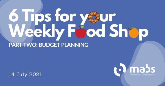banner for post on 6 tips to plan your weekly food shop