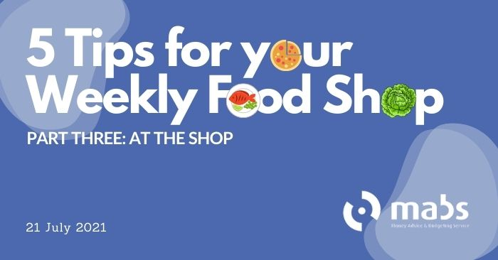 banner for post on 5 tips to do your weekly food shop